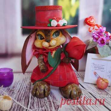 Купить зайчишка лео ручной работы в Городе мастеров