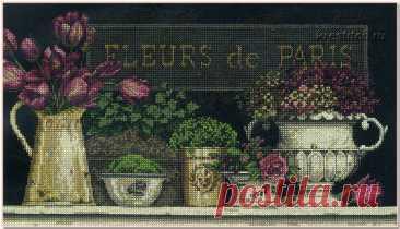 Fleurs de Paris - Цветы Парижа (арт.35093 Dimensions) набор для вышивания крестом купить в Stitch и Крестик