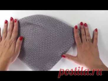 Двойная шапка бини спицами