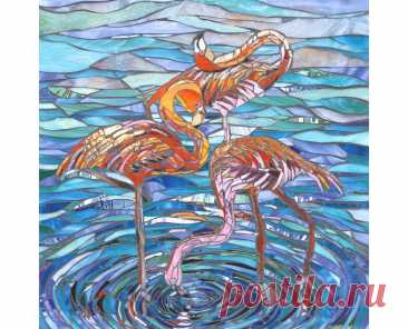 Three Flamingos Print Limited Edition Giclee Print from | Etsy