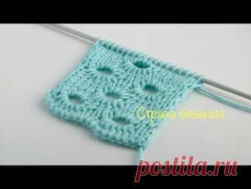 Узоры спицами. Оригинальный ажурный узор.Knitting patterns. Original lace pattern.