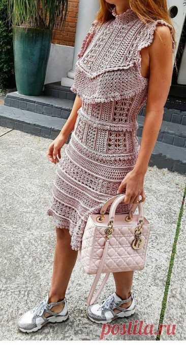 Что бы там не говорили, а вязаные платья это невероятно красиво, женственно и всегда модно! | Вяжем, лепим, творим, малюем) | Яндекс Дзен