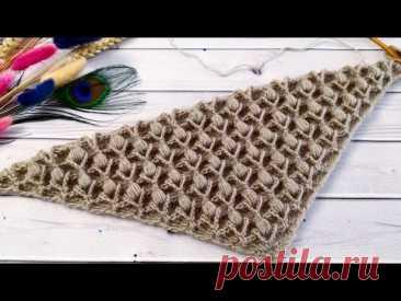 Вы не поверите - КАК ПРОСТО ВЯЗАТЬ ЭТУ ШАЛЬ//Шаль крючком узором 3D//Crochet shawl