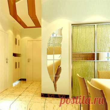 15*72 см DIY зеркальный декоративный стикер с рисунком пера акриловый зеркальный эффект Наклейка на стену для украшения дома|Декоративные зеркала| | АлиЭкспресс