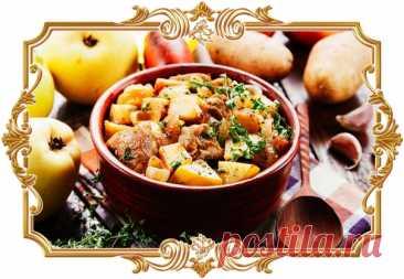 #Свинина, #запечённая #с #картофелем #и #айвой  С добавлением фрукта во вкусе привычного #блюда появляются необычные нотки.  Время приготовления: Показать полностью...