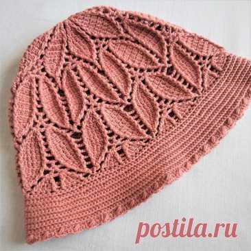 Идея. Чудесная панамка на основе японской схемы  #идея_@crochet_group #шляпа Автор Любовь Русланова