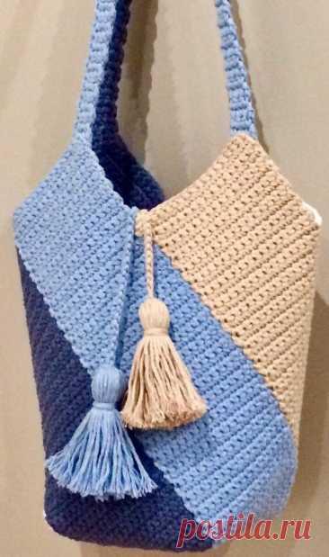 Вязаные сумки. Модели с описанием и идеи для вдохновения   Магия Вязания / Knitting Magic   Яндекс Дзен