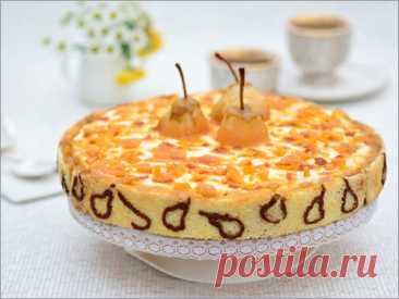 """Торт """"Груши в карамели"""" – кулинарный рецепт"""