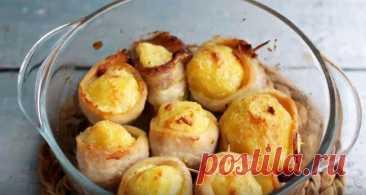 Картофель с Беконом в Духовке Очень Вкусный Рецепт Картофель с беконом в духовке очень вкусный и простой рецепт. Это горячая закуска, которая делается очень просто и быстро.