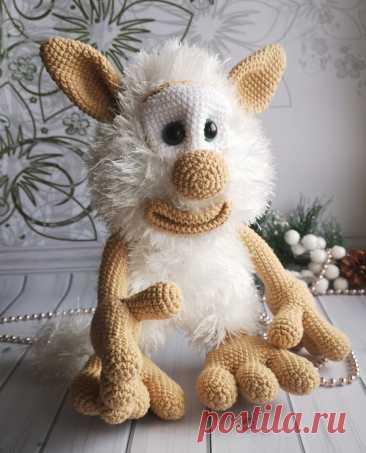 Вязанная игрушка домовёнок Буба | Вязаные игрушки Елены Гусельниковой (ami_toys_elena)