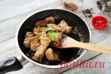 Жареное мясо на сковороде рецепт с фото пошагово и видео - 1000.menu