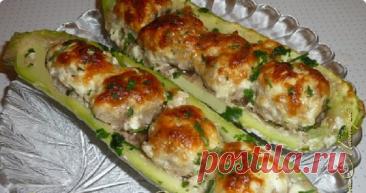 Лодочки-гусеницы из кабачков. Вкусное, сытное, нежное и полезное блюдо одновременно!