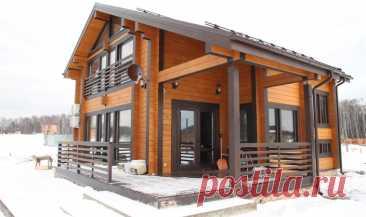 Проекты и строительство домов из клееного бруса под ключ: характерные особенности материала.