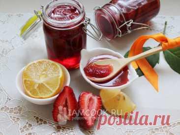 Варенье из резаной клубники — рецепт с фото Крупные ягоды клубники перебрать, промыть, обсушить, нарезать одинаковыми ломтиками и варить по 5 минут в три приема в сахарном сиропе.