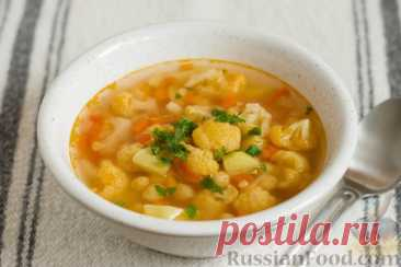 Рецепт: Пряный суп с нутом и цветной капустой на RussianFood.com