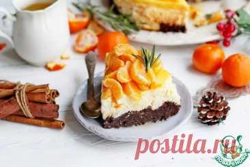 Чизкейк с брауни и пряными мандаринами – кулинарный рецепт