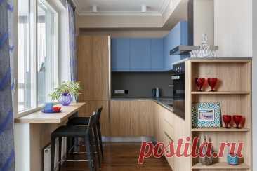 Как расположить мебель на угловой кухне - идеи на фото | Houzz Россия