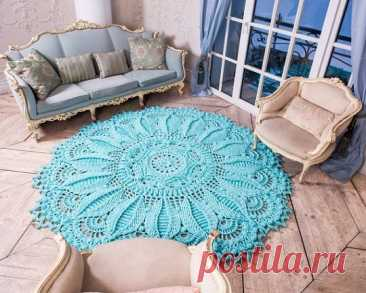 Crochet doily rug tutorial - XELLCRAFTS