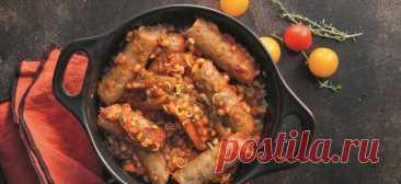 Рагу с колбасками и перловкой - Образованная Сова