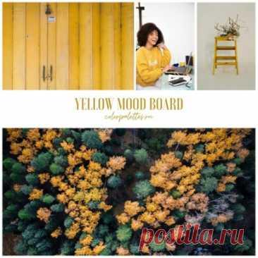 Яркий, бодрящий и солнечный желтый Для вдохновения, новых идеи и отличного настроения в осеннее утро! Желтая доска настроения, фото: https://clck.ru/US2wB