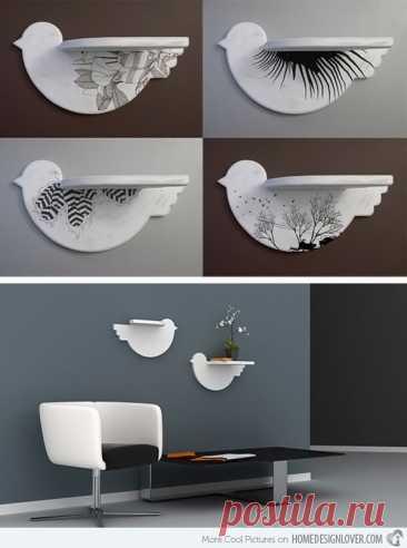 Полки птички Модная одежда и дизайн интерьера своими руками