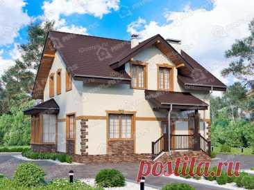 p2220rb – проект дома 9 на 9 с мансардой из пеноблоков до 140 кв м
