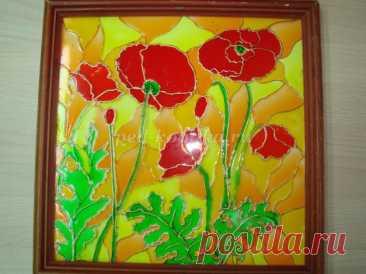 Роспись витражными красками по стеклу. Мастер-класс