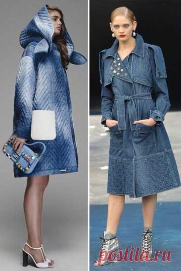 Лёгкое пальто из джинсы. Вдохновляющие идеи для творчества | Вертолет на пенсии | Яндекс Дзен