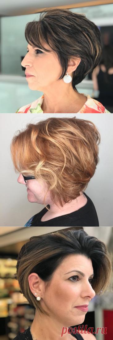 15 модных коротких стрижек для леди старше 60 лет на тонкие волосы | Новости моды