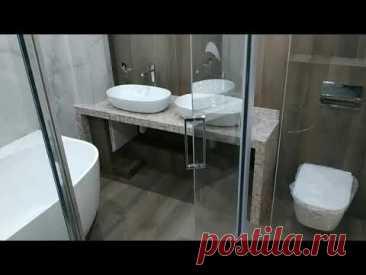 Интересный Дизайн ванной СовмеЩенной с Туалетом