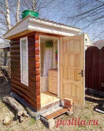 😍😍😍Очень уютный туалет для дачи. Как считаете?