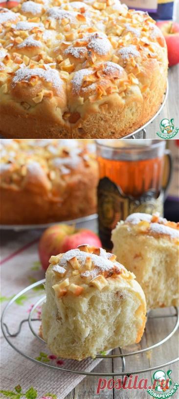 Булочки пшенные с яблоками и изюмом – кулинарный рецепт