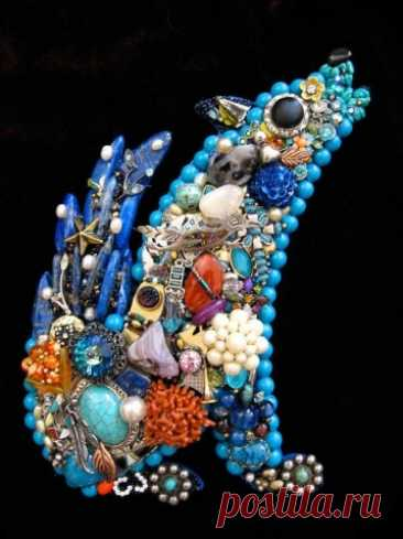 Панно и миниатюры из бижутерии | Интересные идеи декора