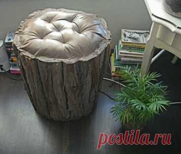 33 идеи как сделать обычный деревянный пень креативным и стильным элементом декора | Древология | Яндекс Дзен