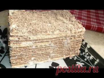 Вафельный Торт Без Выпечки На Скорую Руку