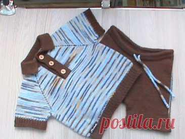 Футболка-поло и шорты для малыша. МК  Часть 1.Футболка  -расчет.