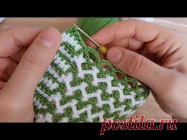 Bu modele bayılacaksınız tığ işi çapraz zincirli örgü modeli how to crochet knitting model