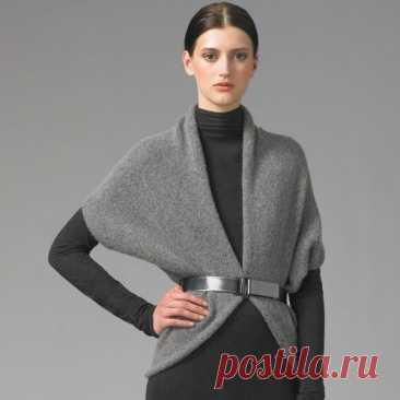 Простая выкройка кардигана-распашонки Модная одежда и дизайн интерьера своими руками