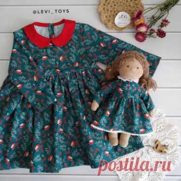 Купить платье и куколка ручной работы ручной работы у мастера без наценок | DIY Рукоделие - Игрушки, куклы