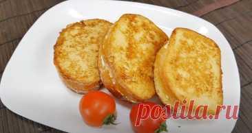 Гренки с Творогом и Зеленью Рецепт за (10) Минут Гренки с творогом и зеленью простая и быстрая закуска, рецепт за 10 минут для завтрака или полдника.