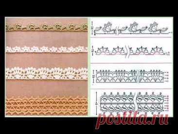 Ленточное кружево. Ажурная тесьма. Большая подборка схем крючком / Crochet tape lace patterns - YouTube Схемы из видео можно сохранить и распечатать здесь  https://anna-gri.blogspot.com/2021/04/crochet-tape-lace-patterns.html #ленточноекружево #кружевокрючкомсхема #tapelace #Crochetlace #laceRibbon #openworkpatterns #rfeecrochetpatterns #тесьмакрючком #ажурнаятесьмакрючком #ленточноекружевосхема #схемыкрючком