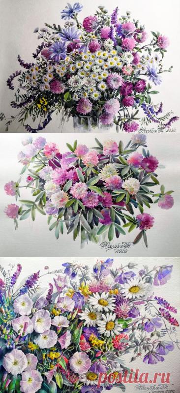 Цветы нам дарят настроенье и пробуждают вдохновенье... Художница Хазова Татьяна Васильевна.