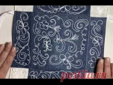 А что, так можно было?!!😜 Вышиваю вязальными нитками на обычной швейной машинке!😄😄😄