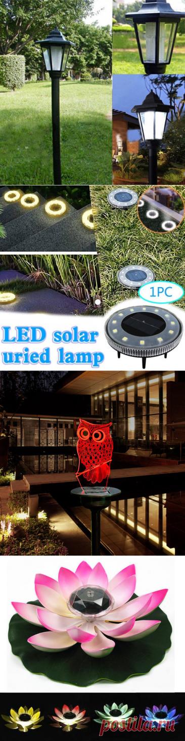 Светодиодный настенный светильник на солнечной батарее, уличная лампа для сада, забора, водонепроницаемый теплостойкий светильник для забора|Солнечные лампы| | АлиЭкспресс