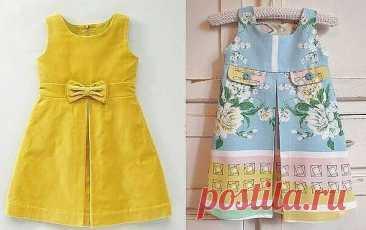 El patrón del vestido para la muchacha de 1 a 12 años