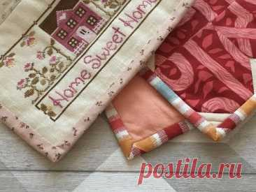 Окантовка с минимальным запасом ткани/формирование аккуратного уголка.