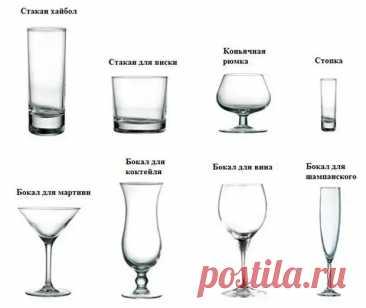 Виды бокалов для наиболее популярных напитков и коктейлей - Хозяин и Хозяюшка - медиаплатформа МирТесен