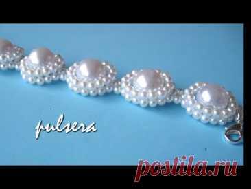 DIY - Pulsera todo perlas para novias - Bracelet all pearls, for brides