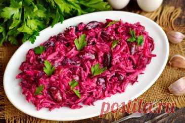 Салат из свеклы и фасоли – рецепт с фото