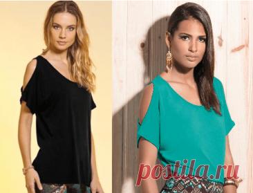 Выкройка блузки с открытыми плечами (Шитье и крой) – Журнал Вдохновение Рукодельницы